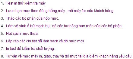 quy trinh do muc may fax tai nha danh cho tat ca cac dong may panasonic chinh hang