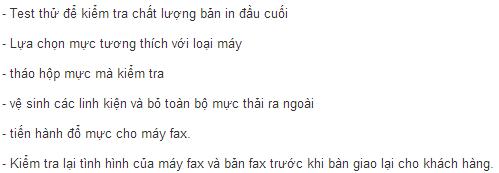 quy trinh do muc may fax nhanh va chuan chinh hang